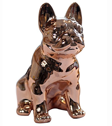 Eastyle Dog Piggy Banks Electroplate Bulldog Toy Bank (Rose Gold)