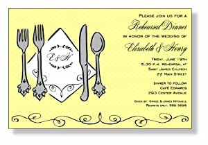 Printable Silverware Cards - 20 Cards with Envelopes