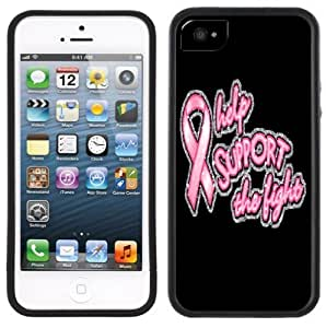 Breast Cancer Pink Ribbon Handmade iPhone 5C Black Case