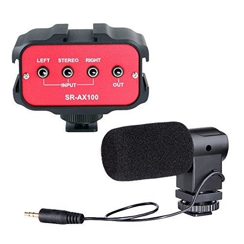 Movo DSLR Audio Bundle with Compact Stereo Video Microphone and Standard Mixer for DSLR Cameras & Camcorders