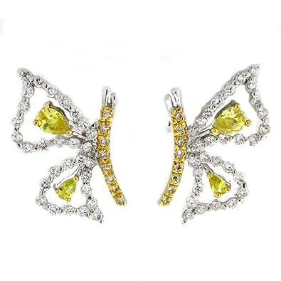 Amazoncom Whisper In My Ear Pretty Butterfly Earrings With