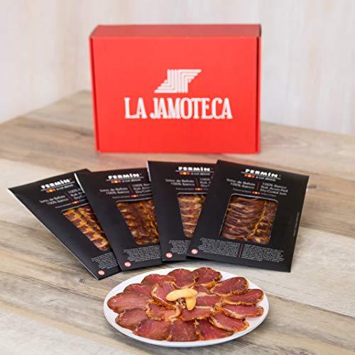 La Jamoteca- Iberico Pork de Bellota Cured Loin, Sliced, Between 10-12 Portions Per Package, 4 Packages of 2oz Each from Fermin -