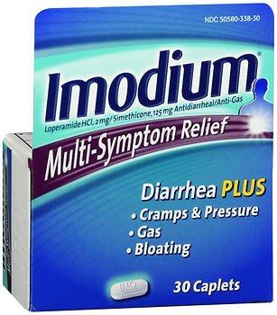 Imodium Multi-Symptom Relief - 30 Caplets, Pack of 4 by Imodium