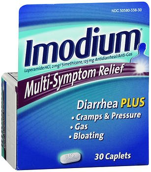 Imodium Multi-Symptom Relief - 30 Caplets, Pack of 4
