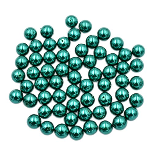 AD Beads Top Quality Czech Glass Pearl Round Loose Beads 3mm 4mm 6mm 8mm 10mm 12mm (4mm (200 Pcs), Emerald)