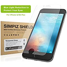 iPhone 6/6S Plus Screen Protector, Simpiz Crystal Clear Thinnest Shatterproof Flexible Glass Screen Cover for iPhone 6 Plus & iPhone 6S Plus, - Blue Light Cut for Eye Protection