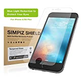 iphone 4 front blue screen - iPhone 6/6S Plus Screen Protector, Simpiz Crystal Clear Thinnest Shatterproof Flexible Glass Screen Cover for iPhone 6 Plus & iPhone 6S Plus, - Blue Light Cut for Eye Protection