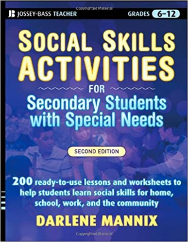 Social Skills Activities for Secondary Students with Special Needs ...