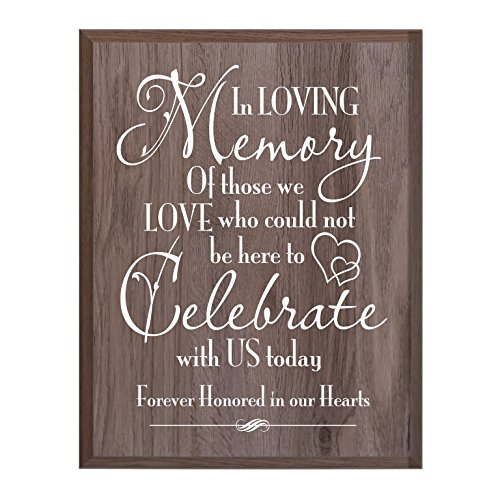 Memorial Wall Plaque - LifeSong Milestones Memorial gift for loss of loved one, Mother, Father, Wife, Husband, Son, Daughter Sympathy gift ideas wall plaque Celebrate size 12 x 15 by (Salt Oak)