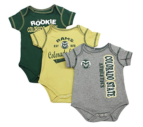 Outerstuff Baby Colorado State Rams Rookie 3 Piece Creeper Set