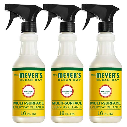(Mrs. Meyer's Clean Day Multi-Surface Everyday Cleaner, Honeysuckle, 16 ounce bottle (Pack of 3))