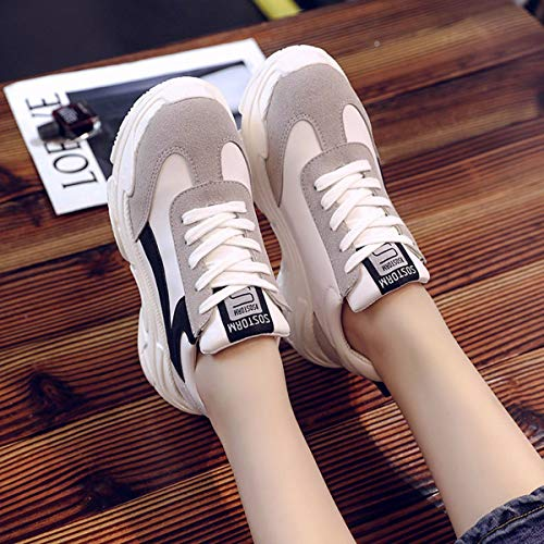 Femmes Kphy Chaussures Trente cinq thick tudiants Muffin Retro Floor Casual Noir Street Shoes Pat YUHqYw
