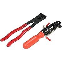 KKmoon 2pcs Auto CV Joint Boot Clamps Pliers Automobile Car Banding Clamp Tool Kit Set
