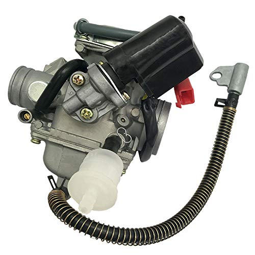 150cc Carburetor for GY6 4 Stroke Engines Electric Choke Motorcycle Scooter 152QMJ 157QMI with Air Filter Intake Manifold by Auto parts (Image #2)
