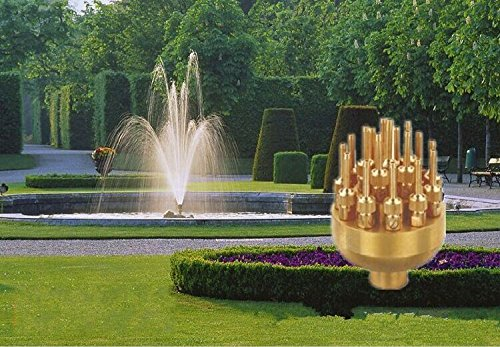 New Fountain Nozzle 17 Sprinklers Spray Head Pond Pool Brass