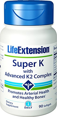 Life Extension Super K with Advanced K2 Complex Softgels, 90-Count , Life-gh