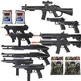 Dark Ops Airsoft 11 Gun P2338 Sniper Rifle Package + Shotguns + Pistol