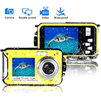 Waterproof Digital Camera FHD 1080P Underwater Camera...