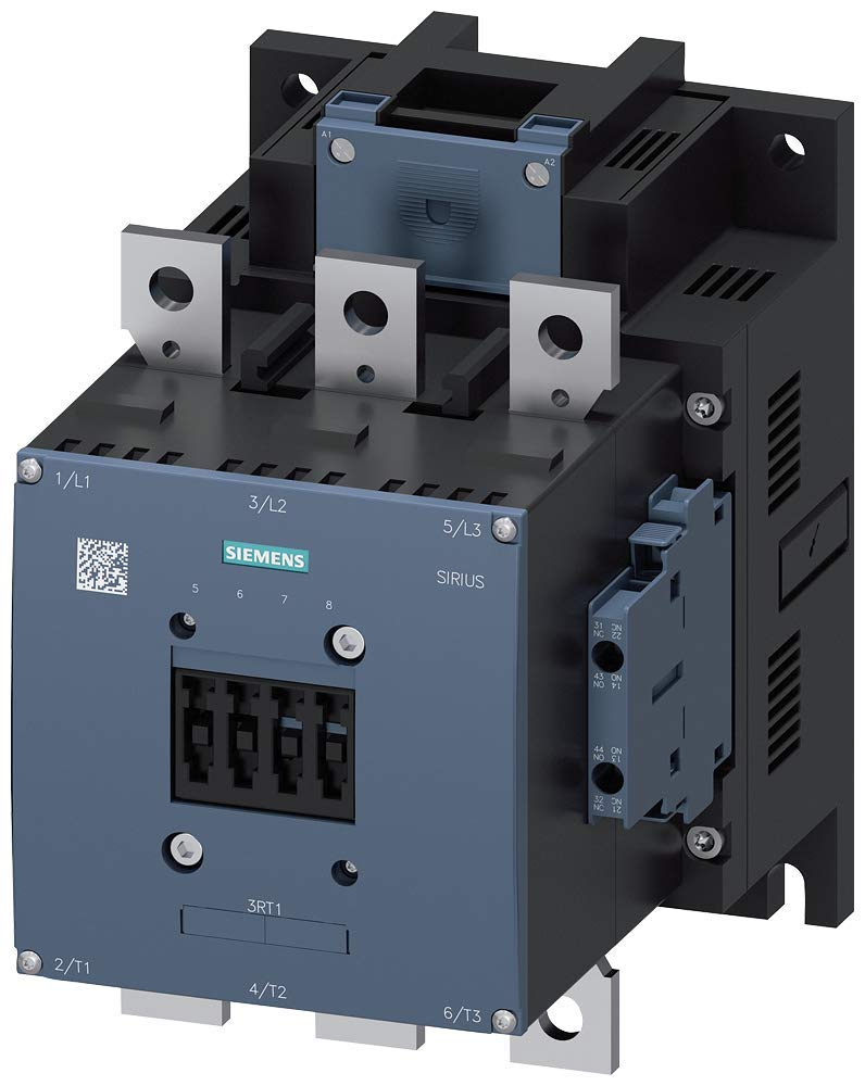 Conventional Coil DC 220-240V Screw Terminals 2 NO 3 Poles 225 AC3 Amp Rating AC 40-60Hz 2 NC Auxilliary Contacts S10 Frame Size Siemens 3RT10 64-6AP36 Motor Contactor