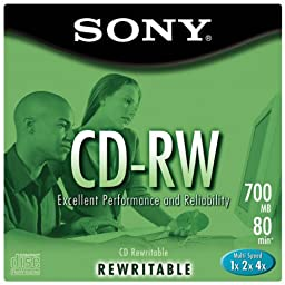 SONY CD-RW80 5-Pack