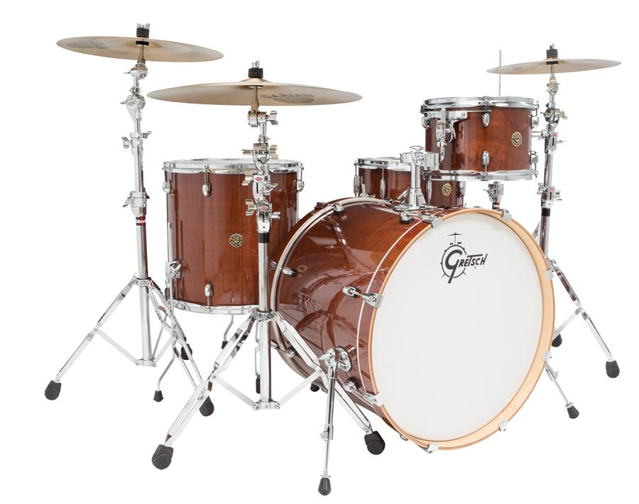 gretsch cm1e824swg catalina maple cm1 4 piece shell pack with 22 bass drum walnut. Black Bedroom Furniture Sets. Home Design Ideas