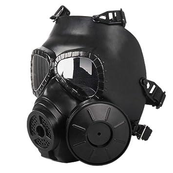 Devekop Táctico Máscara,Dummy Anti Niebla Máscara de Gas M04 con Ventilador para Protección de