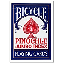 Deck Bicycle Jumbo Index Pinochle Playing Cards - Includes Bonus Cut Card!