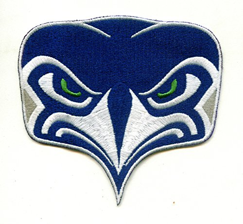 Seattle Seahawks Alternate NFL Football Team Logo Iron-on Jersey Sweater Patch 3 1/2 X 3