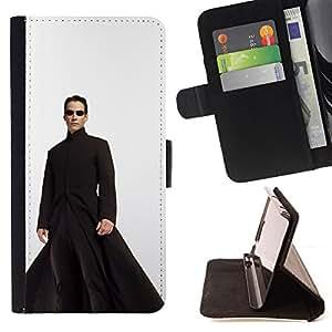 KingStore/funda con tapa de piel sintética tipo libro Sony Xperia Z1 L39 // Matrix Leo
