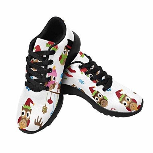 Scarpa Da Jogging Leggera Da Donna Running Running Leggere Easy Go Walking Comfort Sport Scarpe Da Ginnastica Collezione Di Gufi A Tema Natalizio Multi 1