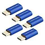 USB-C to Micro USB Adapter[5-Pack], CableCreation USB Type C (Male) to Micro USB (Female) Data & Charging for Apple Macbook/Pro, ChromeBook Pixel, Nexus 5X/6P and More, Sapphire Aluminum