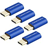 USB-C to Micro-B Adapter[5-Pack], CableCreation Micro USB Female to USB Type C Male Adapter, Data & Charging with 56K Resistor, Compatible Galaxy S9/ S9+, Sony XZ, LG V20 G5 G6 etc, Sapphire Aluminum