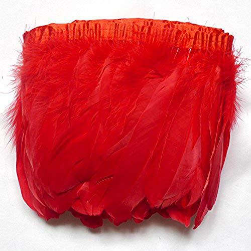 Flecos De Pluma De Ganso Biot de color blanco 2 yardas Trim para artesanías//disfraz//coser