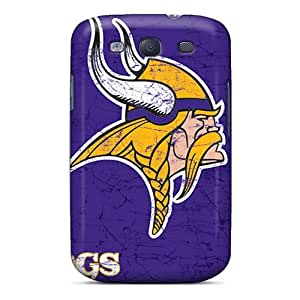 Protector Hard Phone Cover For Samsung Galaxy S3 With Support Your Personal Customized High-definition Minnesota Vikings Pattern CristinaKlengenberg