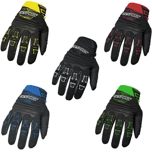 JET PILOT FULL FINGER RAGE GLOVE RED M ()
