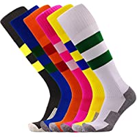 KALAKIDS Youth Soccer Socks Boys Girls 1/3/5/6 Pack Knee...