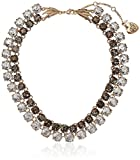 "Betsey Johnson Angels & Wings Two Tone Patina Faceted Stone 2 Row Necklace, 16.5"" + 3"" Extender"