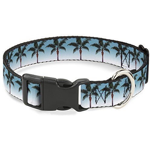 Buckle Down Cat Collar Breakaway Palm Tree Skyline 8 to 12 Inches 0.5 Inch Wide ()