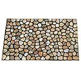 Fußmatte Sauberlaufmatte Türvorleger Dekor Steine ca. 46 x 76 cm