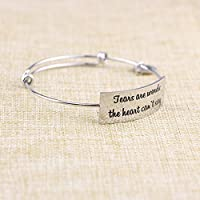 Memorial Jewelry Gift for Friend Loss Yiyang Sympathy Gift Bangle Bracelets Loss of Mother Loss of Dad