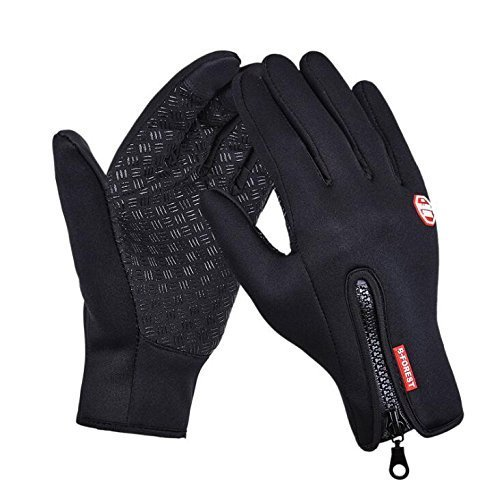 BCSLINE JP Winter Gloves Windproof Cycling Gloves Warm Protection Full Finger Touch Screen Ski Gloves for Bicycle Mountaineering Motorcycle Racing (Medium)