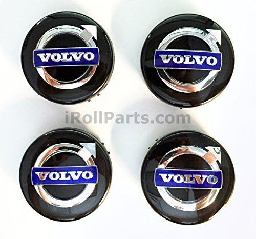 (Genuine Volvo Black Center Hub Cap Kit (Set of 4))