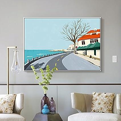 Amazon Com Paintsh Living Room Decoration Painting Modern Sofa Wall