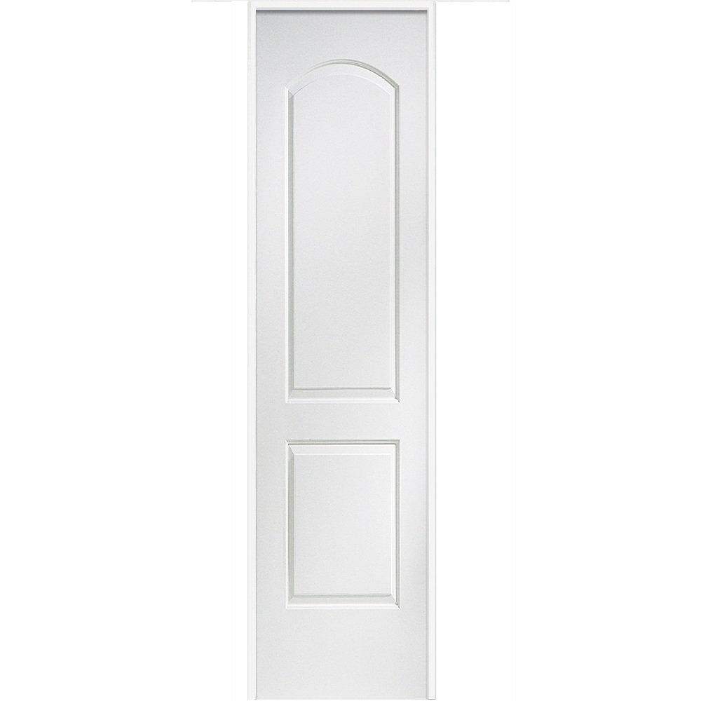 MDF 2-Panel Archtop 30 x 80 on 6-9//16 Jamb National Door Company ZZ365037R Solid Core Molded Prehung Interior Single Door Right Hand