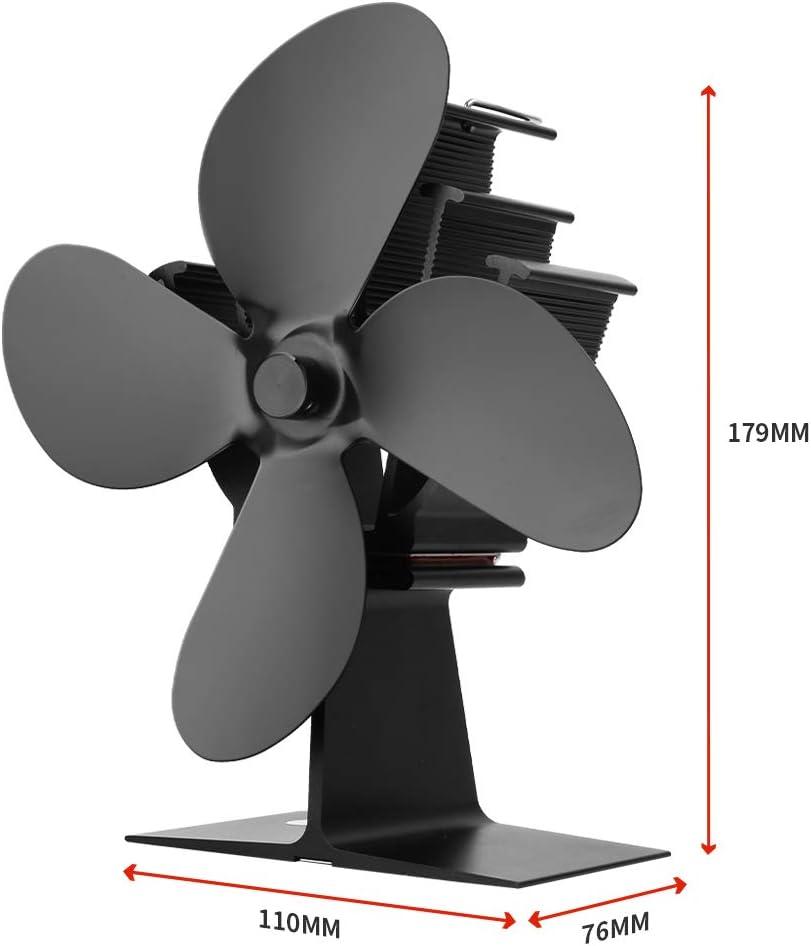 Ecofan pour Po/êle /à Bois Chemin/ée 4 Lames Ventilateur de Poele est Aliment/é par la Chaleur CXhome Ventilateur Poele Bois 40 /° C D/émarrage Op/ération Silencieuse