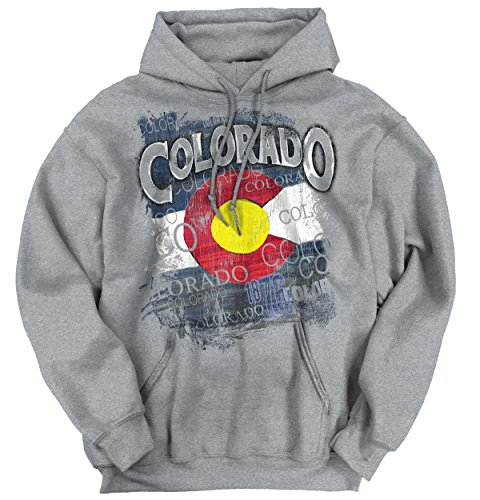 State Flag Sweatshirt (Classic Teaze Colorado Flag Mountain State Country America Hometown Nation Hoodie Sweatshirt)
