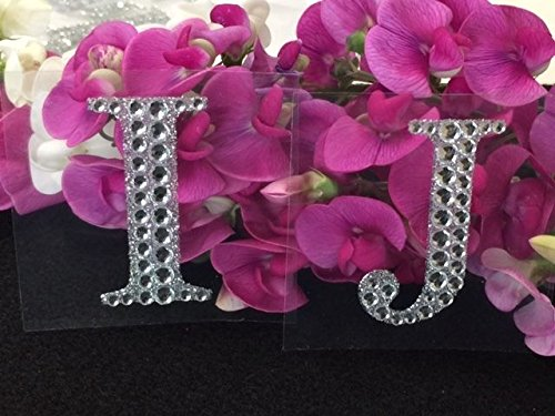 Rhinestone Alphabet Monogram Stickers Block Letter Initial Wedding Scrapbooking (Letter J)