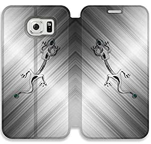 Samsung Galaxy S6 funda, Flip funda para Samsung Galaxy S6, [ANIMAUX SALAMANDRE] de primera calidad Flip PU ??cuero funda para Samsung Galaxy S6 [DDUIPH3450253]