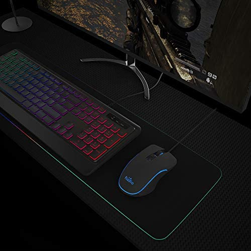FIODIO Wired Gaming Mouse, 4 RGB LED Backlight Modes Computer Gaming Mice with 4 Levels Adjustable DPI up to 2400, Comfortable Ergonomic Optical PC Laptop MacBook Gamer Mouse for Windows 7/8.1/10 51tLxiNFOoL