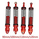 Benedict Harry Red Ajustable Shock Absorber for 1/10 RC TRX-4 Wraith SCX10 D90 (110MM)